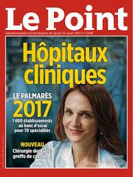 Classement des cliniques du point 2017 Clinique du Parc Castelnau le lez calculs urinaires